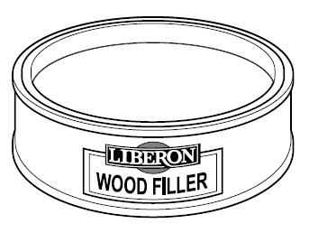 wood filler opvulmiddel kleur dark oak