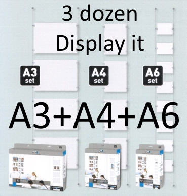 display it completo all in set A6 A4 A3 compleet